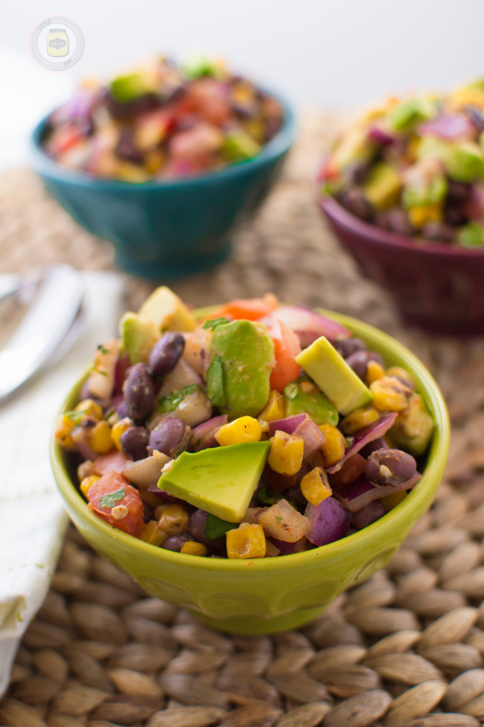 SOUTHWESTERN BLACK BEAN AND ROASTED CORN SALAD - Little Spice Jar