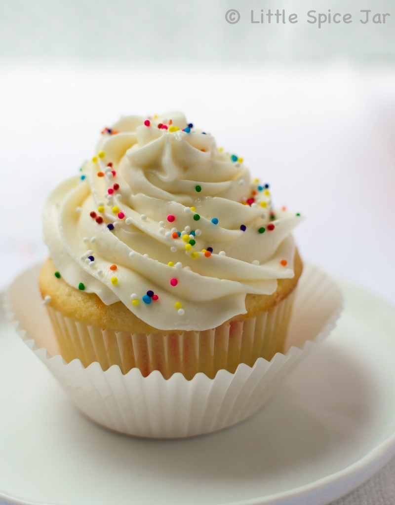 CONFETTI FUNFETTI CUPCAKES (EASY SCRATCH RECIPE) - Little Spice Jar