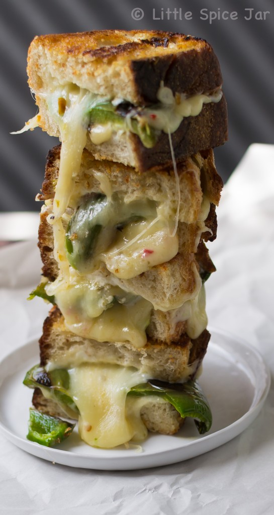 Garlic And Jalapeno Pepper Jack Grilled Cheese Little Spice Jar