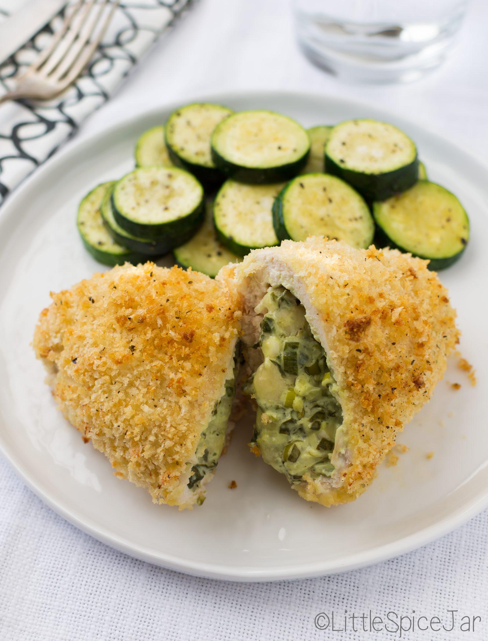 Spinach Cream Cheese Stuffed Chicken Breast Little Spice Jar