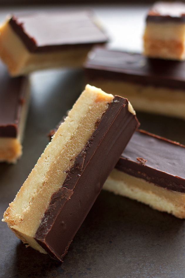 Chocolate Caramel Shortbread Bars (Millionaire) Recipe | Little Spice ...