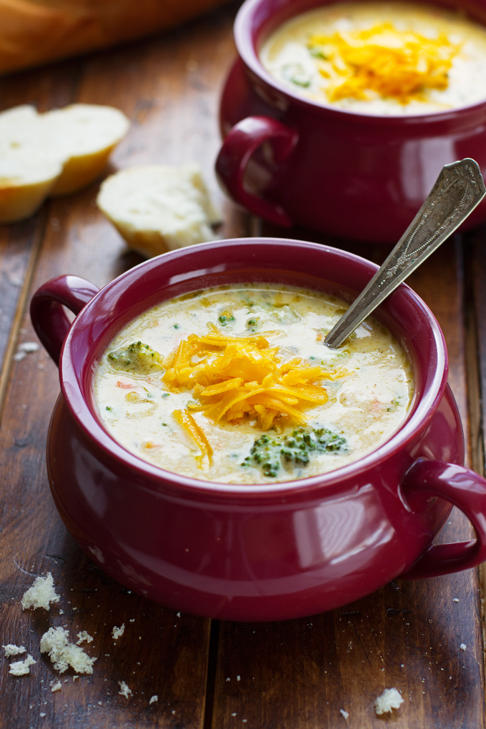 Creamy Broccoli Cheese Soup Recipe | Little Spice Jar