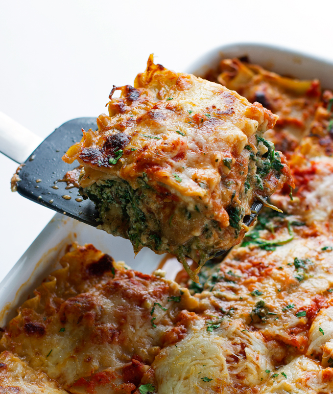 Vegetarian Spinach And Mushroom Lasagna Recipes — Dishmaps