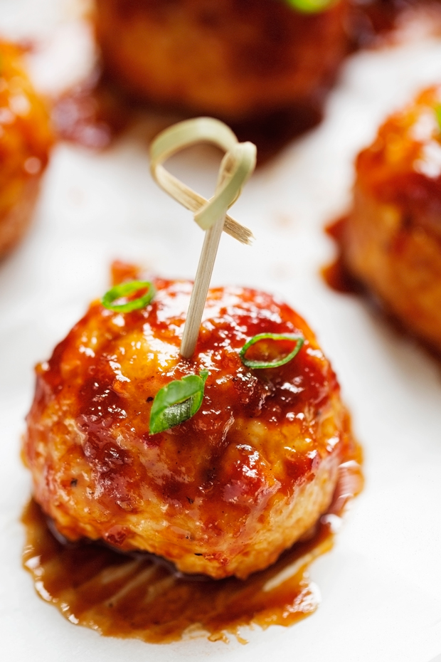 Hawaiian BBQ Chicken Meatballs Recipe | Little Spice Jar